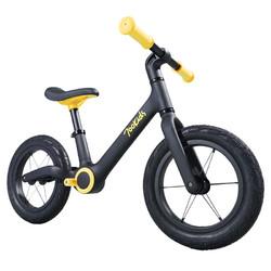 柒小佰 儿童滑步车平衡车儿童无脚踏单车男女童车2-6岁宝宝滑行车 竞技款 充气 黄