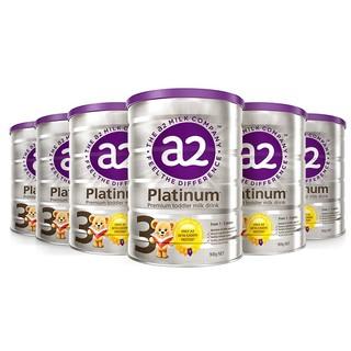 a2 艾尔 a2 澳洲A2 Platinum白金版婴幼儿奶粉新西兰本土原装进口 3段6罐装