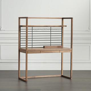 norhor 北欧表情  乔特系列 现代黑胡桃木家具 PEN立体书架书桌