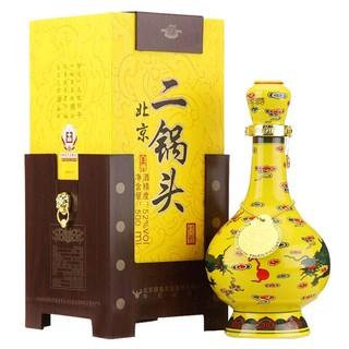 牛栏山 二锅头 经典黄龙 52度 500ml 清香型白酒 盒装 高度酒