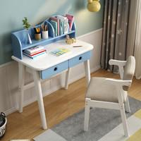 景山百岁 实木书桌书架组合桌 60cm