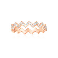 apm MONACO MYSTERIEUSE系列 镶晶钻925银 Z字形女士戒指 *2件