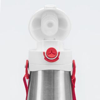 gb 好孩子 猫咪系列 保温弹跳饮嘴杯 红色 420mL