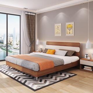 A家家具 A1002 简约实木高箱床 1.5米
