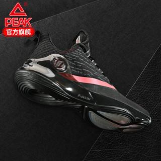匹克帕克六代篮球鞋战靴防滑耐磨实战球鞋明星款篮球运动比赛鞋男 (黑色、43)