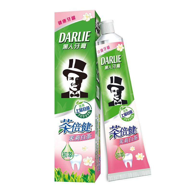 DARLIE 黑人 茶倍健茉莉白茶牙膏140g 清新口气 呵护牙龈 防蛀牙(新旧包装随机发放)