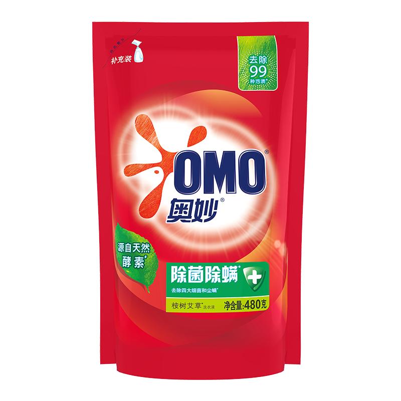 OMO 奥妙 除菌除螨系列 洗衣液 400g/袋 桉树艾草香