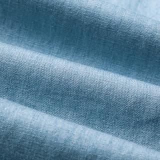 Markless NZA6007M 男士亚麻长牛仔裤 深牛仔蓝 31