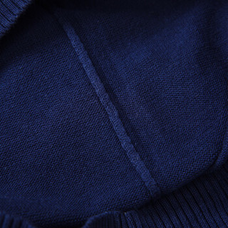 CARTELO 16018KE1201 男士条纹拼接长袖针织衫 橙红 M
