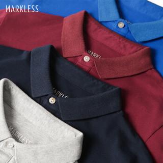 Markless TXA8656M 男士青年纯色翻领POLO衫 藏青色 L
