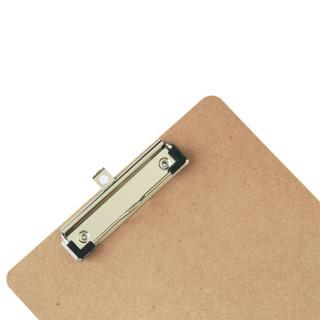 deli 得力 9226 A4原木板夹 棕色