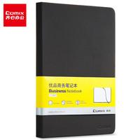PLUS会员:Comix 齐心  C5902 优品皮面笔记本 A5/122张 黑色