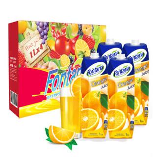 Fontana 芳塔娜 橙汁 1L*4瓶 礼盒装