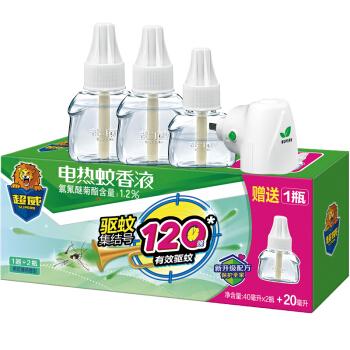超威 电热蚊香液 薄荷香型 150晚+1器