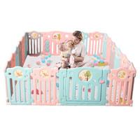 AOLE 澳乐 宝宝围栏 玩具水果围栏12片+门栏+玩具栏 1508*150cm
