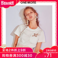 ONE MORE 11CA826418 女款刺绣T恤