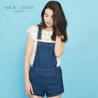 NEW LOOK 371872649 女士牛仔背带短裤