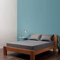 COMO LIVING 铜纤维抗菌床垫保护套床垫 高级灰 120+200cm*25cm 高级灰