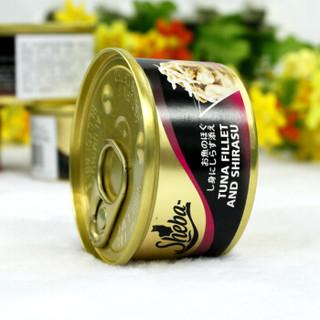 Sheba 希宝 宠物 猫罐头 吞拿鱼及鲜香银鱼 85g*24罐