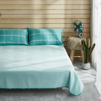 DAPU 大朴 全棉老粗布凉席三件套 绿色 1.2米床/150*230cm