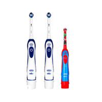 Oral-B 欧乐-B DB4010 成人电动牙刷 2支+DB4510K 儿童电动牙刷 1支