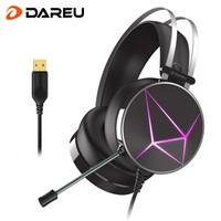 Dareu 达尔优 EH722 电竞版 头戴式游戏耳机 黑色