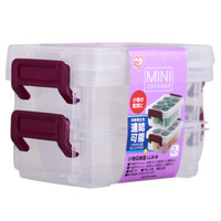 IRIS 爱丽思 工具零件收纳箱 小型收纳箱 LLB-M紫色