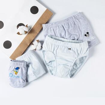 Disney 迪士尼 儿童莱卡棉平角内裤 4枚装 48177Y0 150