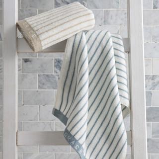 grace 洁丽雅 经典条纹系列 纯棉强吸水毛巾 二条装 72*34cm*90g