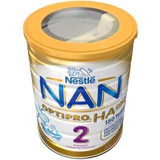 Nestlé 雀巢 NAN 能恩 HA 婴幼儿配方奶粉 2段(6-12个月) 800g*3罐