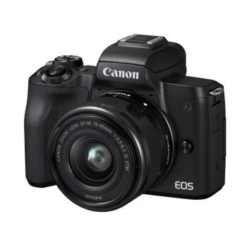Canon 佳能 EOS M50 微单 APS-C画幅 EF-M 15-45 f/3.5-6.3 IS STM 镜头套机 黑色