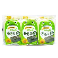 韩国进口 海地村 紫菜海苔 儿童零食 葵花籽油宝贝海苔 12g *16件
