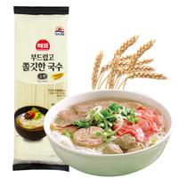 韩国进口 思潮海牌 进口拉面挂面面条 超细面 素面汤面 300g *11件