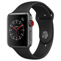 Apple 苹果 Watch Series 3 智能手表 42mm GPS+蜂窝网络 深空灰色铝金属表壳 黑色运动型表带(GPS)