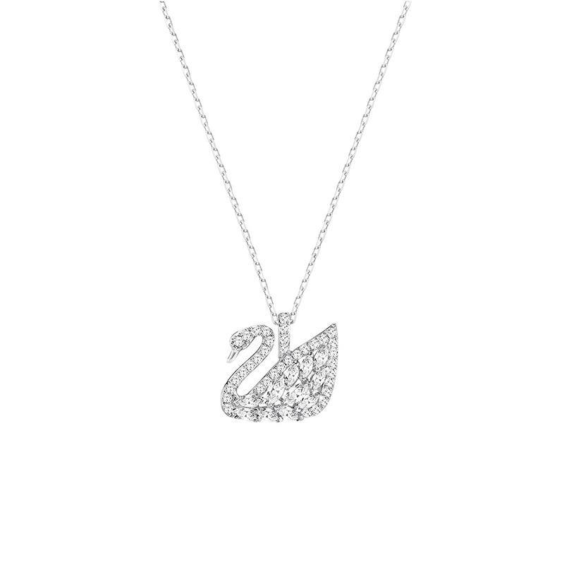 SWAROVSKI 华洛世奇 5296469 榄尖形羽翼天鹅项链