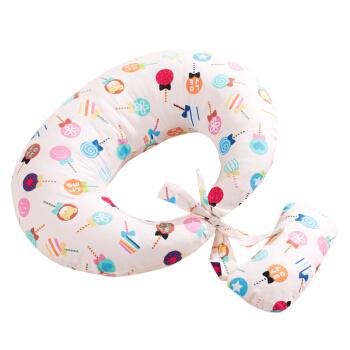 Elepbaby 象宝宝(elepbaby)婴儿哺乳枕孕妇护腰枕多功能宝宝喂奶枕头护腰学坐枕(粉色棒棒糖)