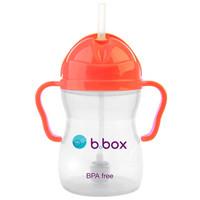 b.box 澳洲 第三代婴儿童吸管水杯 240ml 荧光西瓜红(bbox吸管杯 宝宝重力球学饮杯)