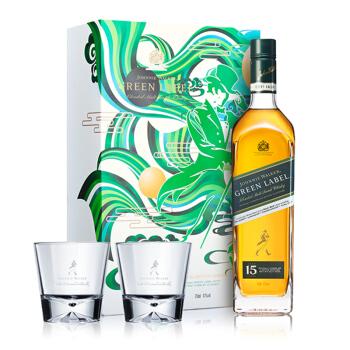 尊尼获加 绿牌洋酒 15年调配型苏格兰威士忌 750ml