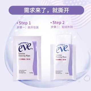 summer's eve 夏依 女性清洁湿巾 16片