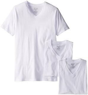Original Penguin 男款 V领 T恤3件套装  白色 M码