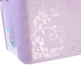 VOZVO 沃之沃 印花收纳箱 手提款梦幻裸色带盖密封储物盒 3件套