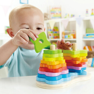 hape 彩虹渐变堆塔 儿童玩具叠叠高