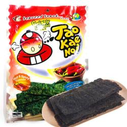 老板仔(Tao Kae Noi)海苔香辣味 泰国原装进口 脆紫菜 休闲零食 大包装32g *10件