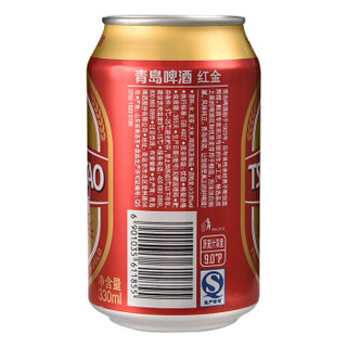 TSINGTAO 青岛啤酒 红金 9度 330ml*24听