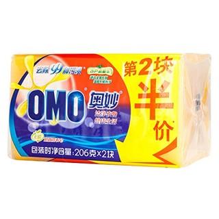 OMO 奥妙 超效洗衣皂 206g*2块*3组
