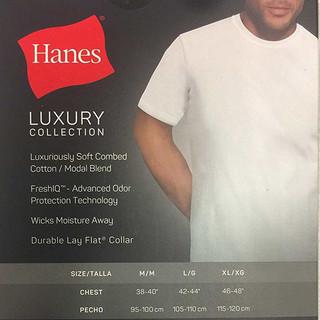 HANES 恒适 纯白男士圆领短袖T恤  四件套装