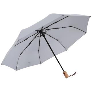 MAYDU 美度 M3312 简约素色系 全自动三折晴雨伞 灰色