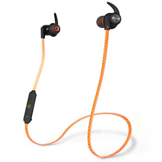 创新(Creative)outlier (橙)Sports 运动防汗蓝牙耳机 入耳式 户外跑步防水 超长续航 防脱耳翼 高音质