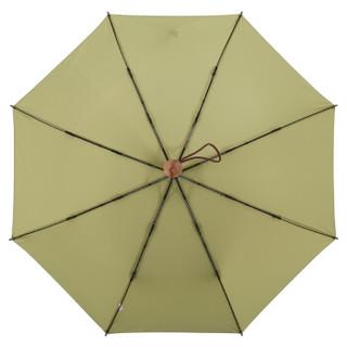 MAYDU 美度 M3312 简约素色系 全自动三折晴雨伞 绿色