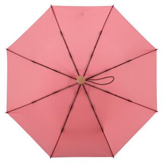 MAYDU 美度 M3312 简约素色系 全自动三折晴雨伞 粉色